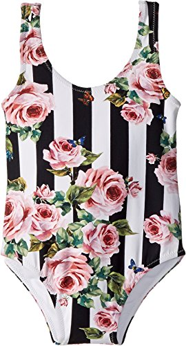 Dolce & Gabbana Kids Baby Girl's Swimsuit One-Piece (Infant) Stripe Rose 6-9 by Dolce & Gabbana