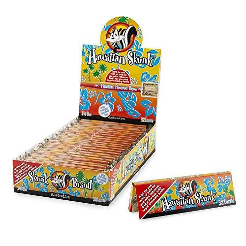(Full Box Skunk Brand 1 1/4 Hawaiian Flavored Hemp Rolling Papers 32 Per Pack)