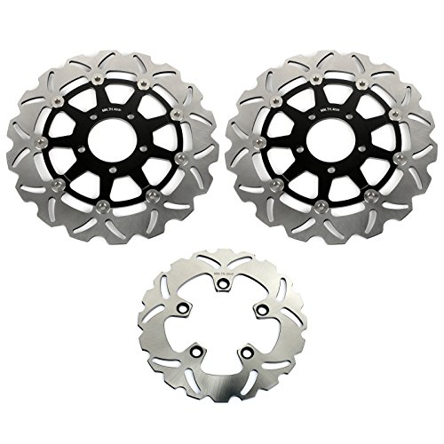 TARAZON Front and Rear Brake Disc Rotor for Suzuki GSXR 600 750 04 05 GSXR 1000 2003 2004 ()