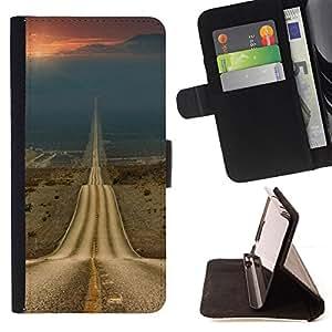 Stuss Case / Funda Carcasa PU de Cuero - Camino de la Libertad Sunset Drive Abrir - HTC One A9