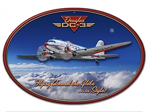 Dc 3 Tin Airplane - 3-D DC-3 AIRPLANE