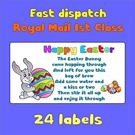 Amazon 24x happy easter stickers labels for cakes sweets amazon 24x happy easter stickers labels for cakes sweets gift bags party bags presents seal symbol e48 negle Image collections
