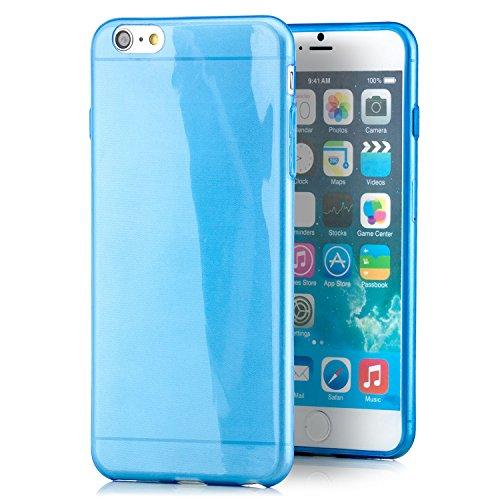 Saxonia Apple iPhone 6 Plus / 6S Plus Soft Flex Silikon Ultra Slim Case Handyhülle, Kratzfeste Durchsichtige TPU Schutzhülle Cover Blau
