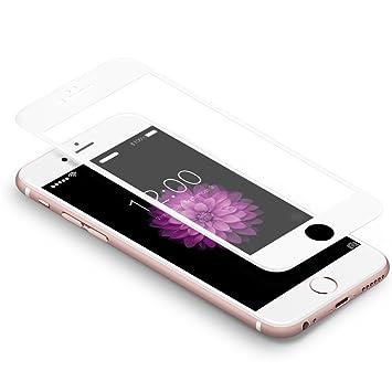 758ca1df3dc iPhone 6 Plus / 6s Plus, Protector 3D Coolreall Curva Blanco Cobertura  Completo Templado Vidrio Protector de Pantalla 9H para iPhone 6 Plus / 6s  Plus (HD ...