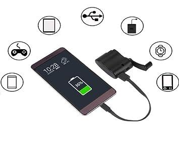 Shot Case Dynamo - Cargador USB para Nokia 4.2 (batería y manivela ...