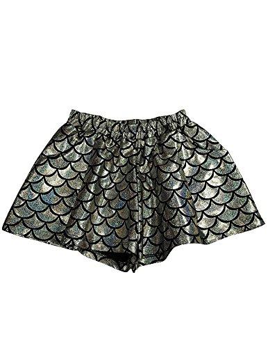 Zara Terez - Big Girls' Swing Shorts, Silver 34048-10/12 -