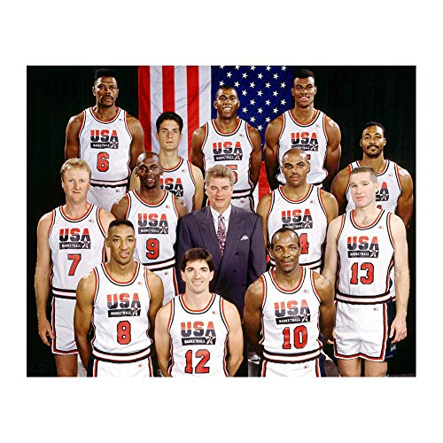 USA Basketball 1992 Dream Team Poster Print Wall Decor 24x32 Inches Photo Paper Material Unframed - Magic Johnson Olympics