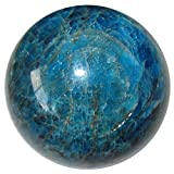 Apatite Ball 80 Blue Third Eye Chakra Watcher Stone Intuitive Awakening Crystal Sphere 2.5''