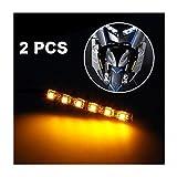 Iuhan Fashion 2x Mini Strip Black led motorcycle Turn signal Universal Amber lights Strip 6LED