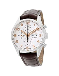 Tag Heuer Carrera White Dial Brown Leather Strap Men's Watch CV2A1AC.FC6380