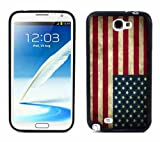 NT2 USA American Flag Grunge For Samsung Note 2 N7100 Case Cover