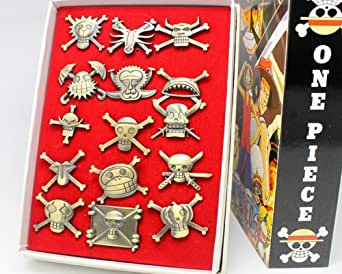 Coser Cosplay One Piece Luffy white beard Shanks badge 15pcs of set Hot