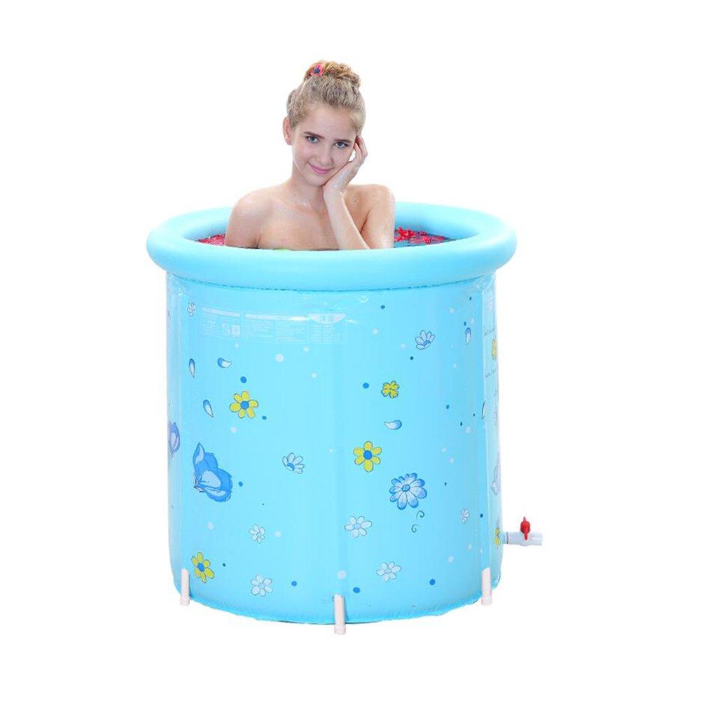 LPYMX,Gepolsterte Badewanne Erwachsene Badewanne Babywanne PVC-Maßerial Verdickung Isolierung Vier Jahreszeiten zur Verfügung Badewanne (Farbe   Ölau)
