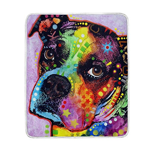 Large Super Soft Throw Blanket Custom Design Cozy 3-Young-Boxer-Dean-Russo Blanket Perfect for Couch Sofa or Bed ()