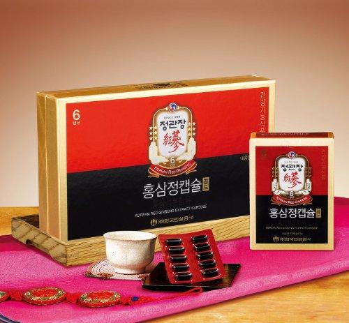 Чонг Kwanjang Кореей Женьшень Корпорация корейский красный женьшень Золотой Капсула 100capsule (60г)
