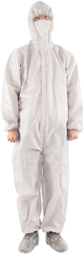 MIUCAT Disposable Overalls with Elastic Wrists and Ankle Cuffs Anti-Fog Protective Clothing Outdoor Workwear
