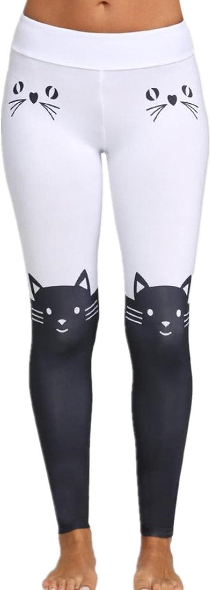 Daylin Mujer Polainas Moda Casual Gato Impresión Yoga Pantalones Deportivos: Amazon.es: Ropa y accesorios