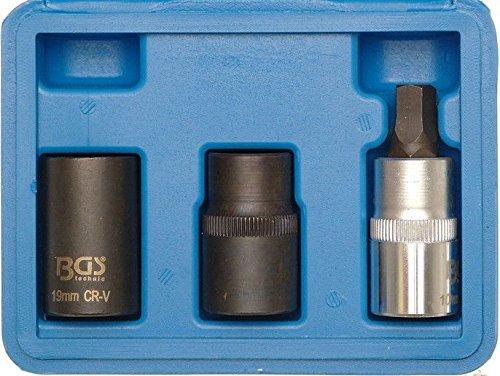 3-piece Pentagon Socket Set, 1/2' 1/2' BGS technic PRO+ 1112