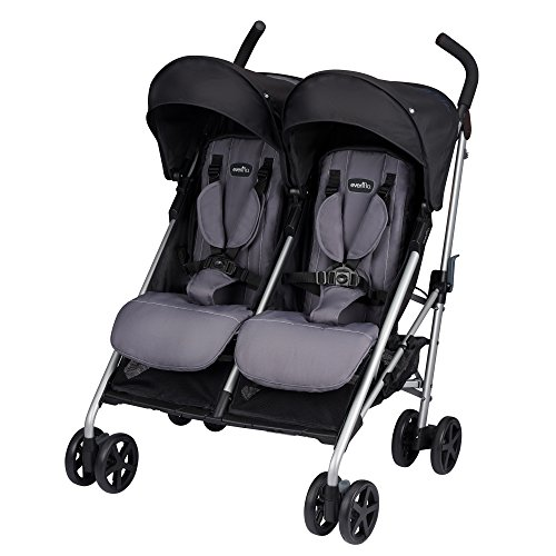 Evenflo Minno Twin Double Stroller, Glenbarr Grey by Evenflo