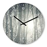 Forest Wooden Wall Clock Silent Non-ticking Wall Clocks Decorative for Living Room Bedrooms Nursery Clock Children Watch
