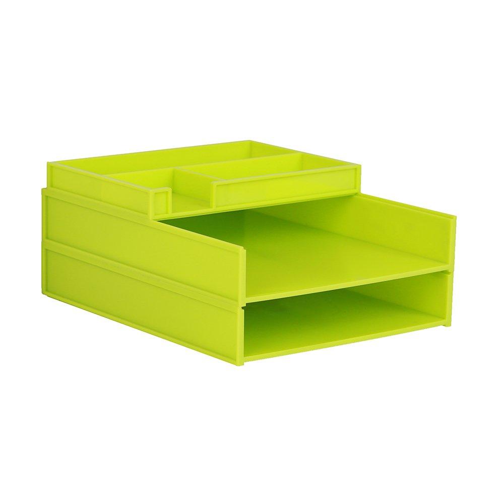 ZAIYI Bücherregal Desktop-Organizer Multilayer-Kunststoff-Datenkorb Büromaterial,B B07CW7VB9D | | | Gewinnen Sie das Lob der Kunden  49778b