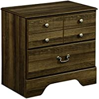 Ashley Furniture Signature Design - Allymore Nightstand - 2 Drawers with Warm Bronze Tone - Vintage Casual - Brown