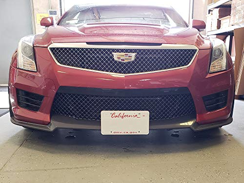 2016-2019 Cadillac ATS-V with Carbon Fiber Front Spoiler Removable Front License Plate Bracket