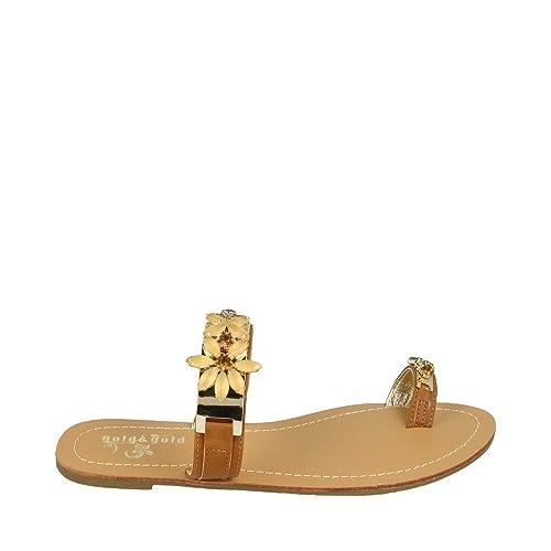Occhiello itScarpe Borse Basso CamelAmazon Gold E amp;goldSandalo b6yY7fg