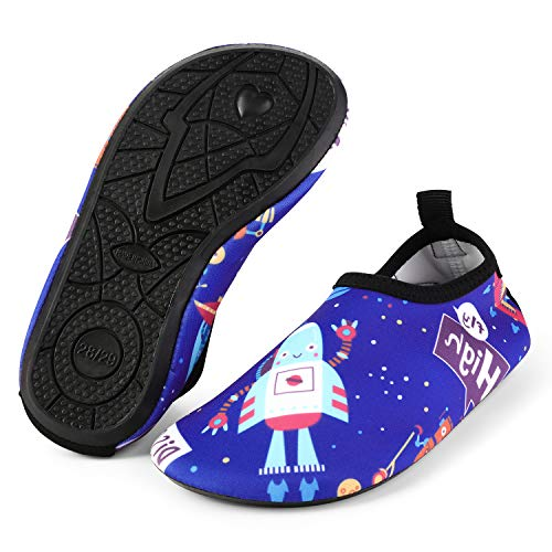 - bridawn Kids Water Shoes Toddler Swim Shoes Quick Dry Non-Slip Barefoot Aqua Socks for Beach Pool