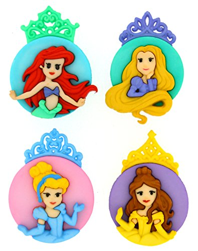 Dress It Up 7745 Disney Button Embellishments, Princess Assortment (Disney Sewing Buttons compare prices)