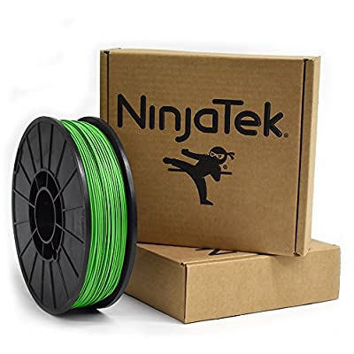 NinjaTek 3DNF06117510 NinjaTek NinjaFlex TPU Filament, 1.75mm, TPE, 1kg Grass (Green) (Pack of 1)