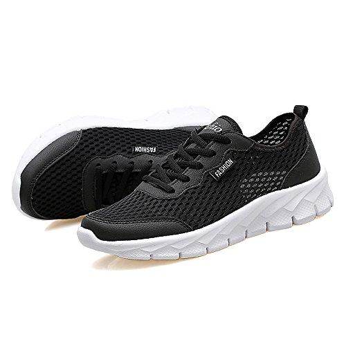 YIRUIYA - Zapatillas de atletismo para hombre negro