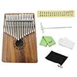 Mowind 17 Key Kalimba Thumb Finger Piano Solid Acacia Koa Wood Body
