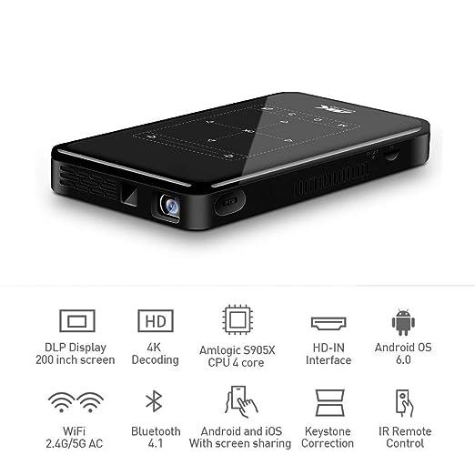YX Mini Projector Mini Dlp Projector, WiFi Bluetooth Led Video ...