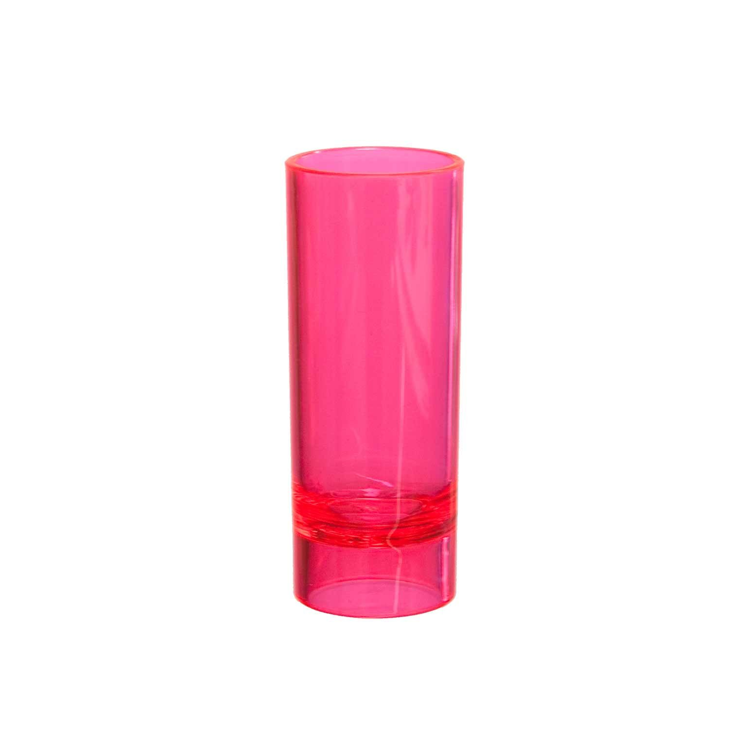 Party Essentials Hard Plastic 2-Ounce Shot/Shooter Glasses, Neon Pink, 10 Count by Party Essentials