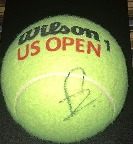 (Rafael Nadal Signed Autograph Tennis Legend Champion New Jumbo Ball With Coa - Autographed Tennis)