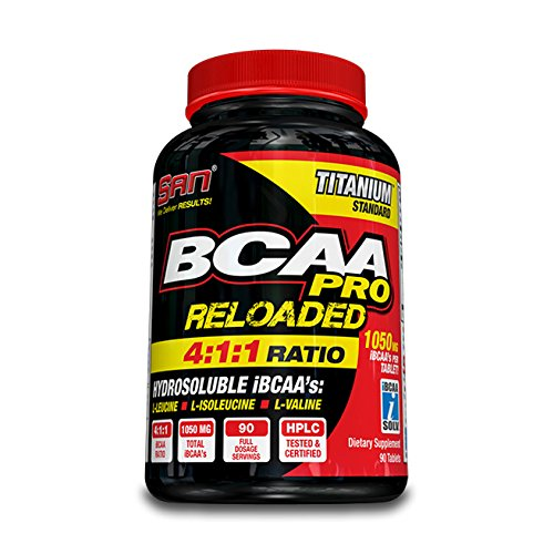 SAN Nutrition BCAA Pro Reloaded 4:1:1 Hydrosoluble Branched-Chain Amino Acids Supplement, 180 (1 Amino Acid)