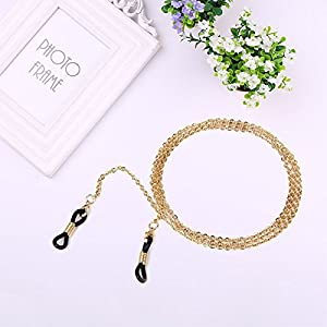 MSmask Eyeglass Neck Cords Strap Spectacles Sunglasses Eyewear Non-slip Gold Chain