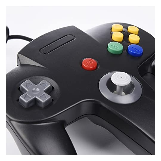 Classic N64 Controller, iNNEXT N64 Wired USB PC Game pad Joystick, N64 Bit  USB Wired Game Stick Joy pad Controller for Windows PC MAC Linux Raspberry