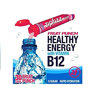 Zipfizz Healthy Energy Drink Mix, Fruit Punch, 30-Count