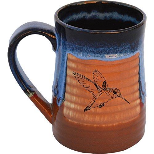 Hummingbird 17 Oz. Small Tankard in Azulscape glaze ()