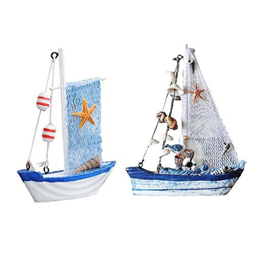 Dovewill 2Pieces Ocean Sea Fishing Net Sailing Mediterranean Ornament Home TABLETOP Decor