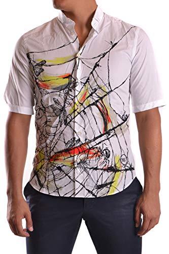 MCQ by Alexander McQueen Men's Mcbi25753 White Cotton Shirt