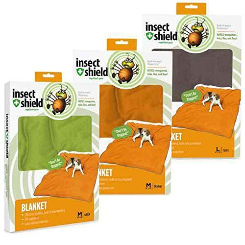 Insect Repellant Dog Blanket Protect Your Pet Against Biting Bugs - Choose Color(Large Slate) by Insect Shield
