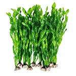 MyLifeUNIT Artificial Seaweed Water Plants for Aquarium, Plastic Fish Tank Plant Decorations 10 PCS 9