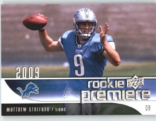 2009 Upper Deck Rookie Premiere Football Card #19 Matthew Stafford (RC) - Detroit Lions (Rookie Card) NFL Trading Card ()