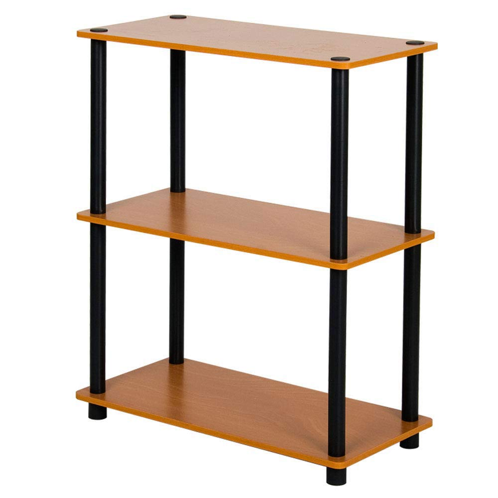 LCTZWJ Book Storage 3 Layer Book Wood Machine Simple Assembly Industrial Display Book Plant Kitchen Supplies (Color : Brown, Size : 7046cm)