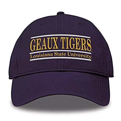 The Game NCAA LSU Tigers Bar Design Classic Relaxed Twil Hat, Purple, Adjustable by MV CORP. INC