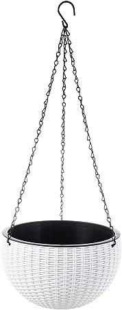 Foraineam 10.2 Inch Dual-pots Design Hanging Basket Planter