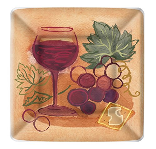 (Boston International 8 Count Square Paper Dessert Plates, Napa Red)